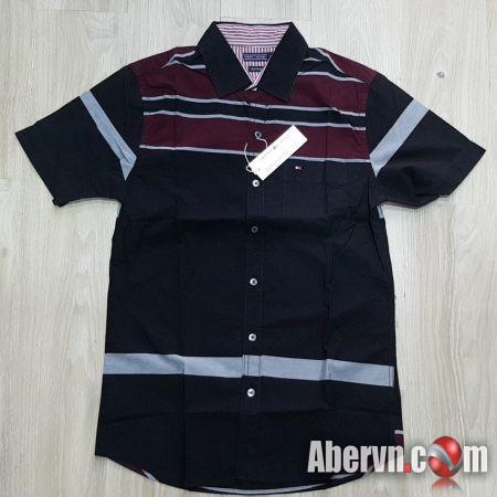 Hình Áo sơmi nam Tommy TM-SM12 Linen Slim Fit Shirt Black