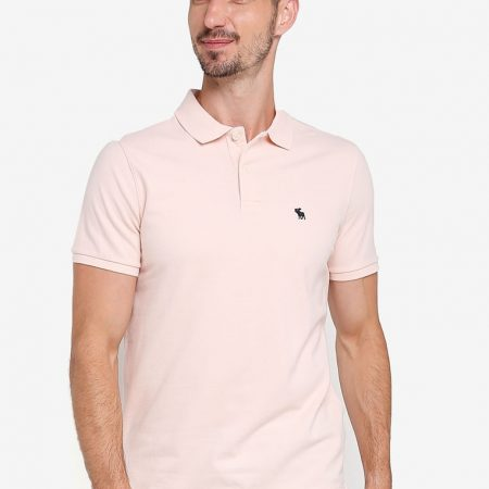 Hình Áo thun polo Abercrombie Fitch AF-P119 Stretch Icon Polo Light Pink
