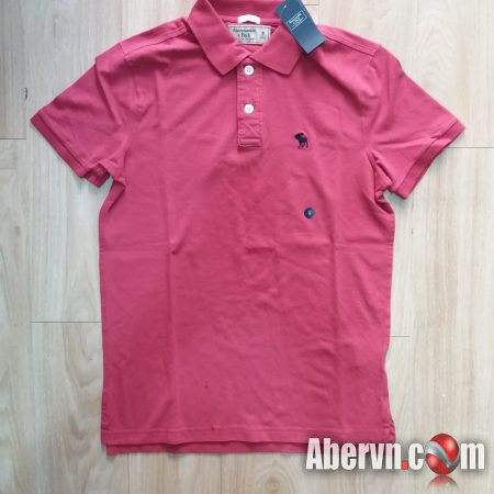 Hình Áo thun polo Abercrombie Fitch AF-P120 Stretch Icon Polo Red Pink