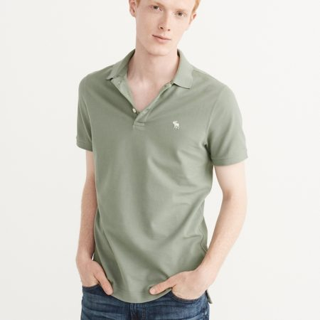 Hình Áo thun polo Abercrombie Fitch AF-P124 Stretch Icon Polo Light Green