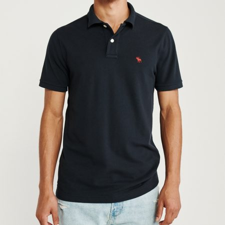 Hình Áo thun polo Abercrombie Fitch AF-P125 Stretch Icon Polo Navy
