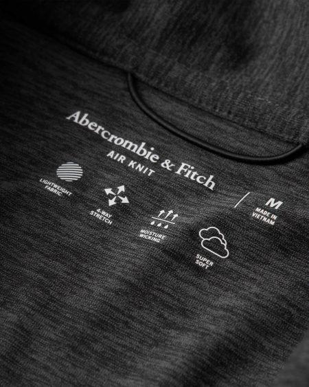 Hình Áo thun polo Abercrombie AF-P128 Air Knit Polo heather black