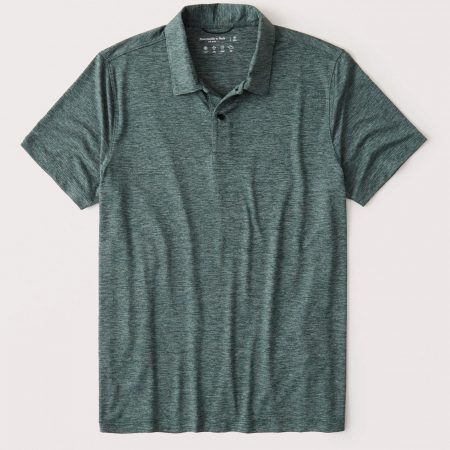 Hình Áo thun polo Abercrombie AF-P129 Air Knit Polo heather green