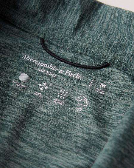 Hình Áo thun polo Abercrombie AF-P129 Air Knit Polo heather green