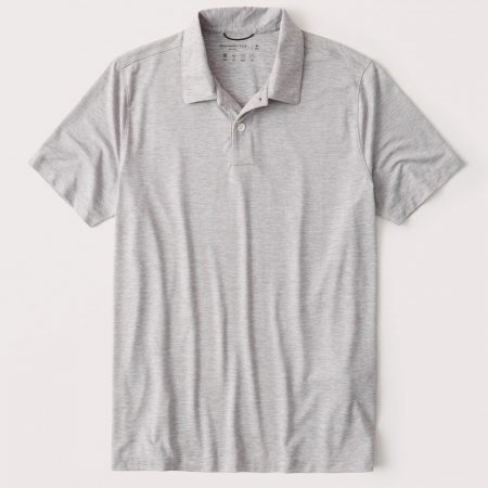 Hình Áo thun polo Abercrombie AF-P130 Air Knit Polo light heather grey