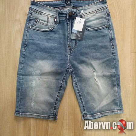 Hình Quần shorts jeans nam GAP-S01 Ripped light washed