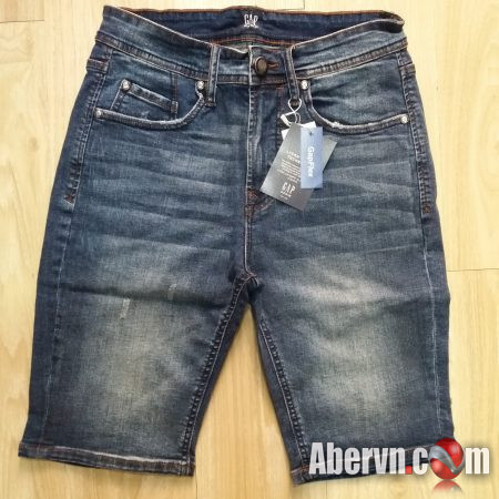 Hình Quần shorts jeans nam GAP-S03 Ripped medium washed