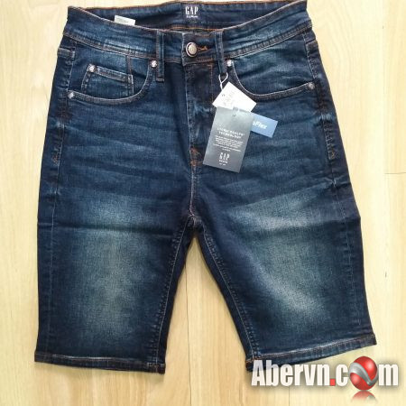 Hình Quần shorts jeans nam GAP-S04 medium washed Slim Fit