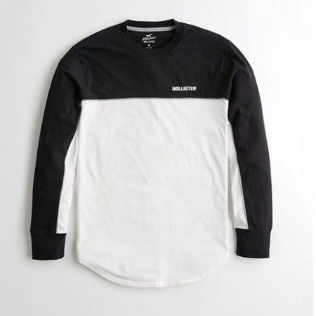 Hình Áo thun nam tay dài Hollister HCO-HL31 Colorblock Curved Hem T-Shirt