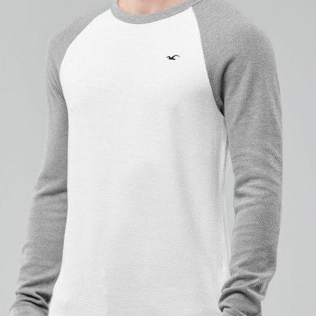 Hình Áo thun nam tay dài Hollister HCO-HL94 Waffle Curved Hem T-Shirt