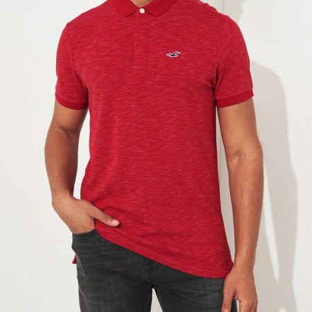 Hình Áo thun nam Hollister HCO-P199 Pique Icon Polo Heather Red
