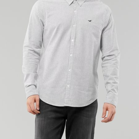 Hình Áo sơmi nam Hollister HCO-US-SM33 Stretch Oxford Slim Fit Shirt