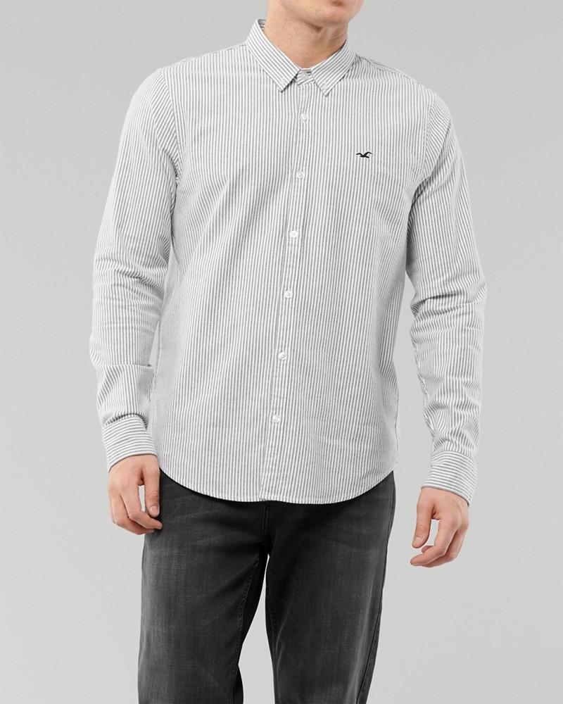 Áo sơmi nam Hollister HCO-US-SM33 Stretch Oxford Slim Fit Shirt