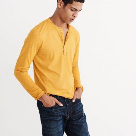 Hình Áo thun nam Abercrombie & Fitch AF-HL21 Garment Dye Long-Sleeve Henley
