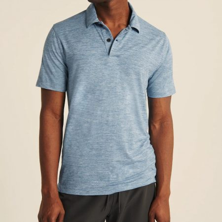 Hình Áo thun polo Abercrombie AF-P132 Air Knit Polo heather light blue