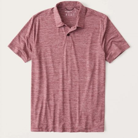 Hình Áo thun polo Abercrombie AF-P133 Air Knit Polo heather red