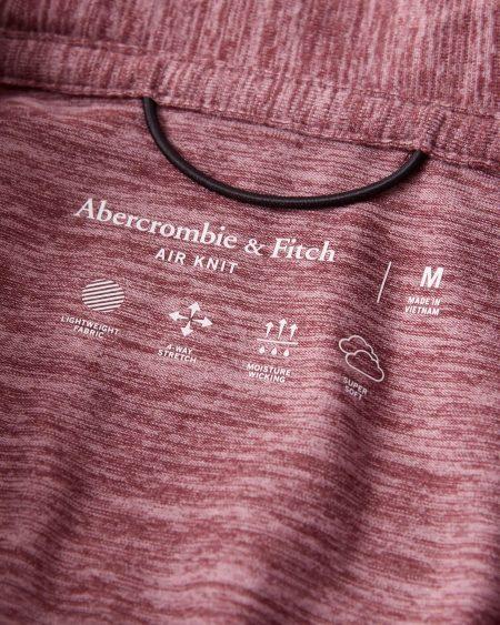 Hình Áo thun polo Abercrombie AF-P133 Air Knit Polo heather red
