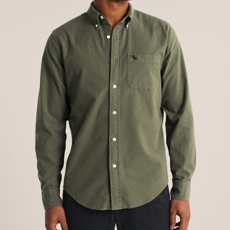 Hình Áo sơ mi nam Abercrombie AF-US-SM120 Oxford Button-Up Shirt
