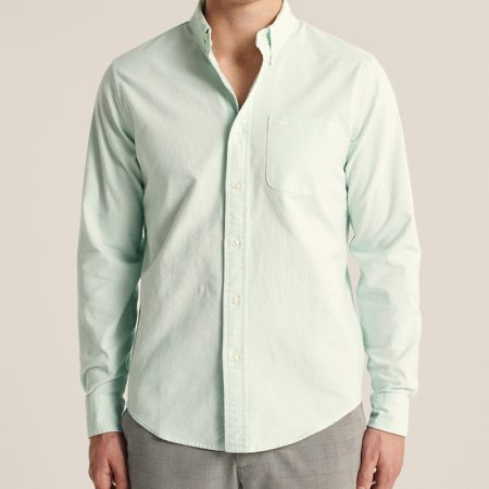 Hình Áo sơ mi nam Abercrombie AF-US-SM122 Oxford Button-Up Shirt