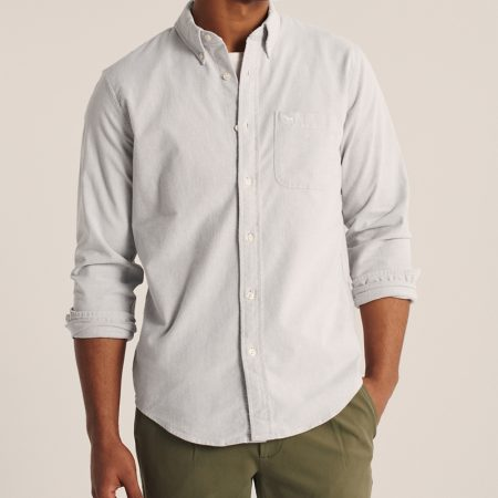Hình Áo sơ mi nam Abercrombie AF-US-SM123 Oxford Button-Up Shirt